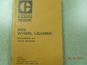 Caterpillar Parts Book 950 Wheel Loader Powered By 3304 Engine
