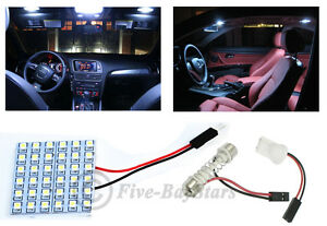2x T10 Festoon Universal 36 Smd Xenon White Led Panel Interior Dome Map Light