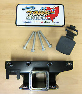 2007 2018 Jeep Wrangler Jk 2 Inch Hitch Receiver And Hitch Cover Mopar Oem