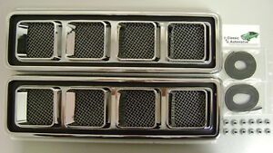 Hood Louvers Ornaments Ss 68 69 Camaro In Stock Gaskets Nuts