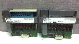 Lot Of 2 Allen Bradley Output Modules 1746 ob16 Ser D Used 1746ob16