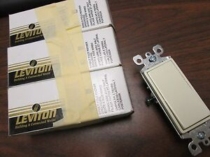 Leviton Rocker Switch 05601 2a 15a 120 277v lot Of 3 New Surplus