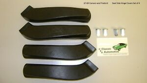 Seat Side Hinge Covers Set 4pc W Retainers 67 68 69 Camaro Firebird In Stock