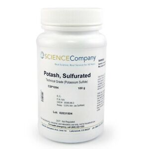 Potash Sulfurated 100g Liver Of Sulfur Patina Copper Silver