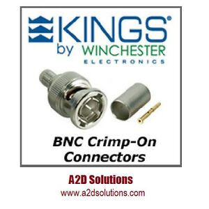 Bag 50 Kings 2065 2 9 75 Ohm Bnc Connector Belden 1505a 1506a Gepco Vpm2000