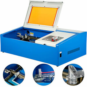 40w 12 x8 Usb Co2 Laser Engraver Cutter Engraving Cutting Machine Blue