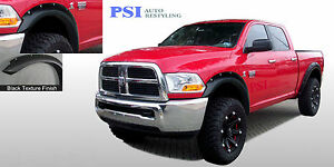 Black Textured Pocket Style Fender Flares 2010 2018 Dodge Ram 2500 Ram 3500