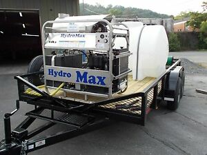 Hot Water Pressure Washer Trailer Mounted 8gpm 4000psi diesel Engine