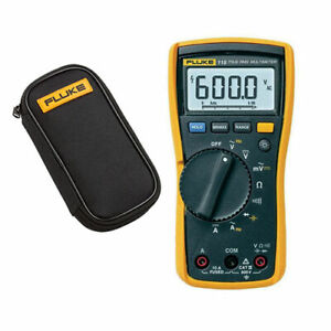Fluke 115 True Rms Multimeter With Test Lead Set Fluke C50 Protective Case