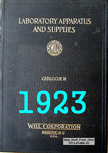 Will Corporation Laboratory Apparatus Supplies Cat Iii 1923 Very Rare