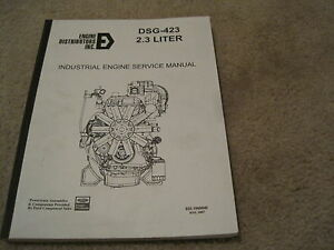 Ford Dsg 423 Industrial Engine Service Manual Engine Distributors Inc 2 3l Edi