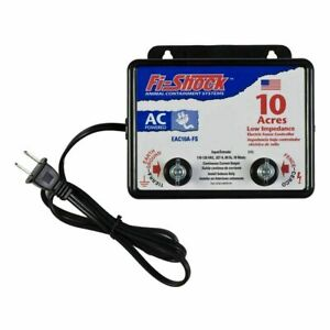 Fi shock Eac10a fs Electric Fence Charger Ac powered 10 Acre Small Animal