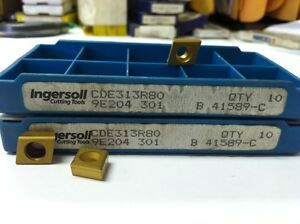 Ingersoll Milling Inserts Cde313r80 Lot 41589 c Box Of 10 Free Shipping
