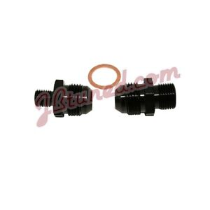 Bosch 044 Fuel Pump Inlet Outlet Fittings Black 8 An 8