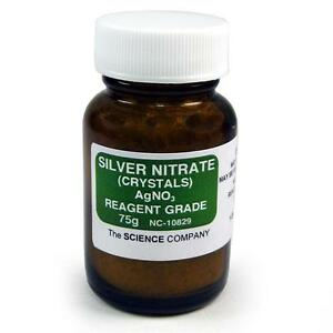 Nc 10829 Silver Nitrate 75g Photography Raku Glazefree Shipping lower 48 Sta