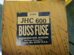 Bussman Fuse Jhc600 600a 600v New Surplus