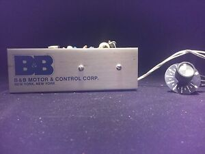 Bodine Dc Electric Motor Speed Controller Model Mr25c