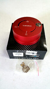 Nrg Steering Wheel Quick Release Hub Quick Lock red Finish