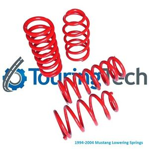 Touring Tech Performance Lowering Springs 94 04 Mustang 1 6 F 2 0 R