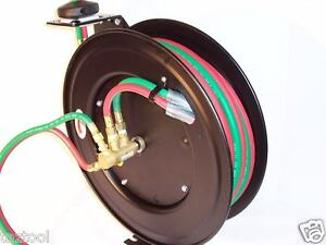 25ft 1 4 Id Automatic Retractable Oxygen Acetylene Welding Hose With Reel