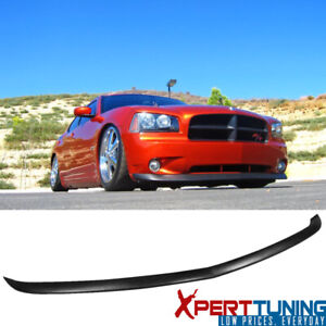 Fits 05 10 Dodge Charger Oe Style Front Bumper Lip Unpainted Black Pu