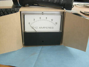 General Electric Yokogawa Model 251 3 Amp Meter 0 15a Dc New Old Stock