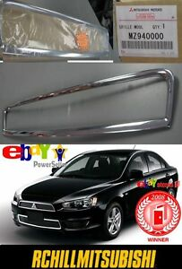 2014 Genuine Mitsubishi Lancer Lower Grille Chrome Surround Moulding Mz940000