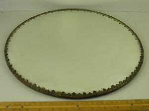 Antique Victorian Bronze Mirror Plateau Display Stand Ornate Vanity Tray