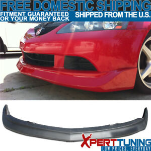 Fits 05 06 Acura Rsx Dc5 Mugen Type Poly Urethane Black Front Bumper Lip Spoiler