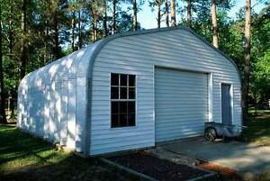 Storage Building 16 X 32 Frameless Arche Style us Buildings