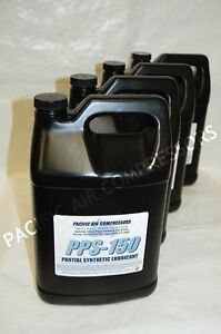 4 Pack Of One Gallon Pps 150 Partial Synthetic Reciprocating Compressor Oil