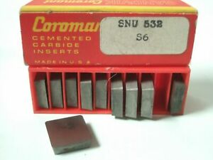 Sandvik Coromant Snu 532 S6 Lathe Mill Carbide Inserts 10 Pcs New