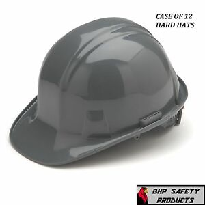 Pyramex Cap Style Safety Hard Hat Gray 4 Point W Ratchet Construction 12 Hats
