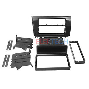 Radio Replacement Dash Kit 2 Din W Pocket Metallic Graphite For Sequoia Tundra