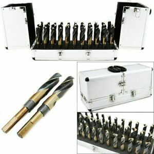 33 Pc Large Size Sized Steel Metal Silver And Deming Tool Drill Bit Set Demming