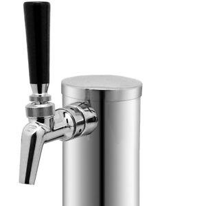 Single Tap Draft Beer Tower Stainless Steel With Perlick Perl 630ss Faucet