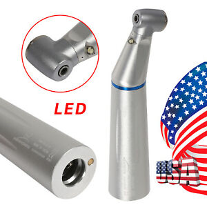 Dental Led E generator Low Speed Handpiece Contra Angle Internal Water Spray