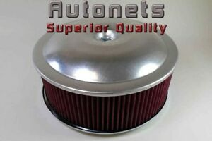14 x5 Spun Aluminum Air Cleaner Recessed Base Chevy Ford Mopar Sbc Bbc Single
