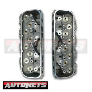 Big Block Chevy Aluminum Bare Cylinder Head Pair Bbc 427 454 502 123cc 336cc