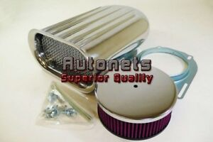 Washable Polish Aluminum Hilborn Mini Wide Fin Air Hood Scoop Single 4bbl Blower