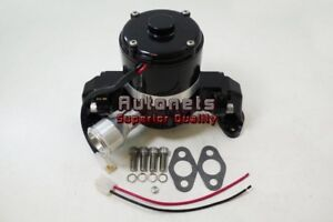 Small Block Chevy Sbc Aluminum Electric Water Pump Black High Flow Volume 35gpm