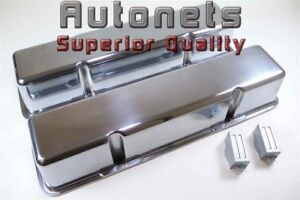 Polish Aluminum Small Block Chevy Sbc Valve Cover Smooth Plain Without No Hole