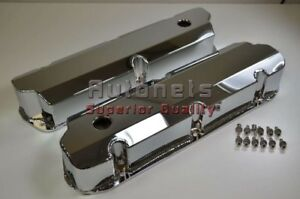 Sbf Ford Chrome Fabricated Aluminum Valve Cover 289 302 351w 5l Mustang Falcon