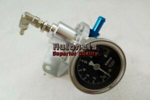 Aluminum Fuel Pressure Regulator High Performance With Gauge 15 100 Psi