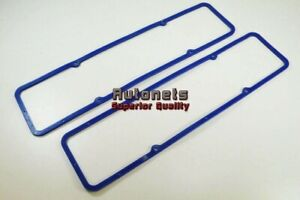 Sbc Chevy 283 305 327 350 400 Valve Cover Blue Rubber W Steel Gasket Small Block