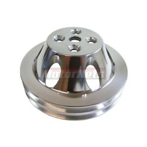 Polished Billet Aluminum Bbc Chevy 396 454 Swp Short Water Pump Pulley 2 Groove