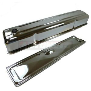 Chrome Steel 1950 62 Chevy 235 6 Cylinder Straight Valve Cover Side Plate