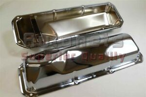 1969 82 Small Block Ford Chrome Steel Valve Cover 351c 351m 400m Boss Cleveland