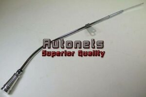 80 85 Billet Aluminum Handle Chevy Sbc 305 350 Chrome Engine Oil Pan Dipstick