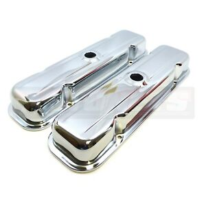 Chrome Steel Pontiac Gto Firebird 326 350 428 455 Valve Covers V8 1959 79 Short